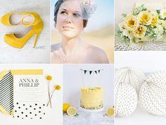 Yellow, Black and White / Board game inspired wedding: Yahtzee!