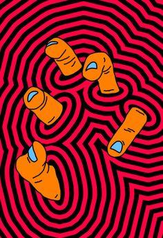 Peeling My Way Through Art Print by Tyler Spangler - X-Small Hippie Painting, Trippy Painting, Body Painting, Painting Art, Art Pop, Pop Art Design, Graphic Design, Graphic Art, Pintura Hippie
