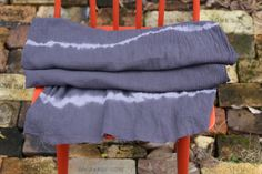 How to tie-dye fabric to make a scarf for fall and winter with Rit Dye.