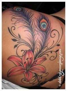 "<3 ""Peacock Feathers"" Tattoo <3"