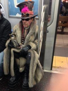 """Steampunk Gary Oldman"" — reddit. | People Of The NYC Subway"