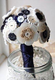 Idea - button bouquets