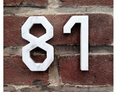 Marble house numbers ; Gardenista