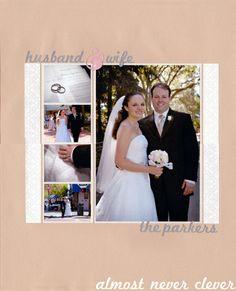 Husband & Wife Wedding Scrapbook Layout 4
