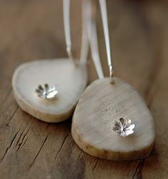 Love these earrings  Antler, Sterling Silver Flower Earrings - Hoyden $42