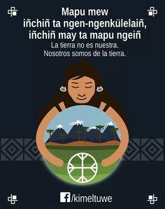 Nosotros somos de la tierra ❤ Ap Spanish, Message Quotes, Tribal Art, Change The World, Life Is Good, Language, Messages, Writing, Education