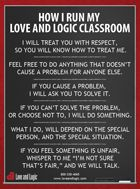 Love and Logic Poster- I really like this. I may have to use it in my room this year!