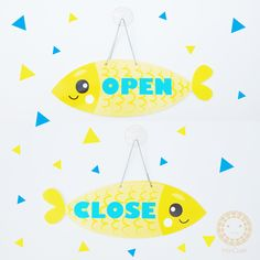 OPEN-CLOSE signage cute acrylic signage by Miki Craft