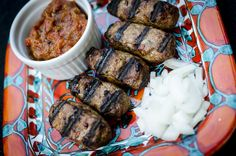 16 Paleo BBQ Recipes, including this cevapcici (Balkan lamb and beef sausages) from Joulwan! Grilled plants and animals, comin' atcha. Lamb Recipes, Meat Recipes, Real Food Recipes, Cooking Recipes, Meatloaf Recipes, Free Recipes, Recipies, Paleo Dinner, Dinner Recipes