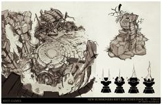 This is a stack of architectural explorations done for the rework of Summoners rift for Riot Games. I served as a Sr Concept artist on the project and provided several hundred iterative designs for the revamp of this map. If you would like to see my process, download my brushes and templates or watch my tutorials you can find me on Patreon! www.patreon.com/TrentsArtJam