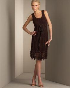 Ivelise Feito à Mão: Lindo Modelo De Vestido Em Crochê!Super Clássico...