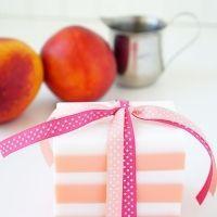 10-Minute DIY Peaches and Cream Soap