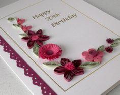 Tubulares de 70 cumpleaños de la tarjeta papel por PaperDaisyCards