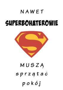 plakat superbohaterowie