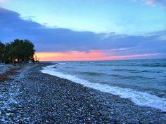 Grecian Beach At Sunset: Thessaloniki, Greece