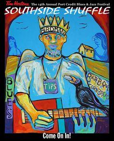JUST 12 SLEEPS UNTIL THE TIM HORTONS SOUTHSIDE SHUFFLE - Port Credit's Blues & Jazz Festival Festival List, Jazz Festival, Local Festivals, Tim Hortons, Ontario, Blues, September, Music, Poster