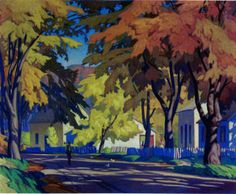 A J Casson - Street in Glen Williams (a village I lived in for 3 years) Group of Seven