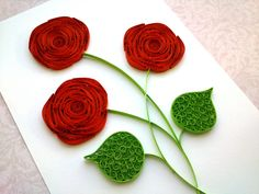 Quilling Rose Tutorial: How to make a rose with a paper stripe. Quilling...