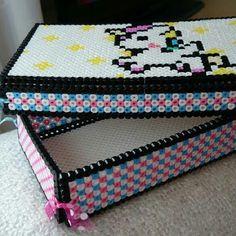 "from instagram: ""Jewellery box i made for @chunners_ #perlerbeads #perler #HamaBeads #hama #jewellery #unicorn"""