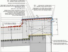 Obr. 3: Detail navýšení atiky a napojení na stávající kontaktní zateplení. Zdroj: projekční činnost –autor1