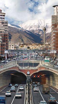 iran, tehran, road, building
