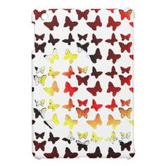 Autumn Color Swirl Butterfly Pattern Case For The iPad Mini