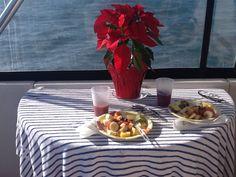 a lovely bkfast over the ocean
