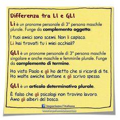 Differenza tra GLI e LI #learnitalian #learningitalian #studyitalian…