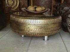 El neumático como complemento decorativo de interiores