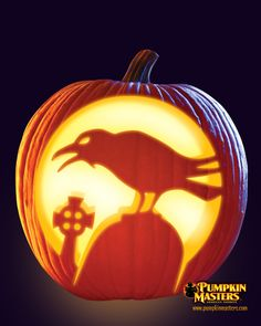 """""""Nevermore"""" pattern from the Pumpkin Masters Pumpkin Carving Kit."""
