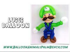 How To Make A Luigi Balloon - Balloon Animals Palm Beach - YouTube