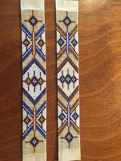 Ive hand made this bracelet on a bead loom with glass Delica Seed Beads - they catch the light and sparkle and shimmer in a gorgeous Native American inspired pattern. It features cool earthy colors - navy, tan, cream and white - with a Native American pattern. Backed by soft, thin