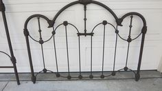 Victorian Cast Iron Brass Queen Size Bed | eBay