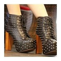sexy black boots by Jeffrey Campbell - Woman Shoes - Best Collection Jeffrey Campbell, Shoes Heels Boots, Heeled Boots, Thick Heels, Walk On, Shoe Collection, Black Boots, Me Too Shoes, Combat Boots