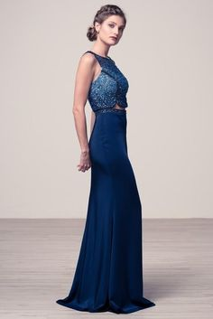 Navy Even gown.