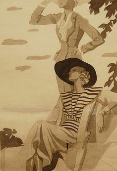 Carlos Sáenz de Tejada art deco 1930s illustration drawing fashion