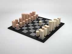 GeoChess, minimalist chess-set // design rjw elsinga, aug 2015