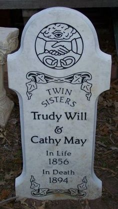 Halloween tombstone: Trudy Will & Cathy May by HF member Kritze