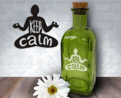 Keep Calm Yoga  17oz Laser Etched Recycled by HumbleElephant