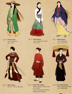 dyuslovethebeauties: Vietnamese Costumes Through...