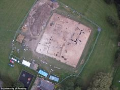 A 1,300-year-old Anglo-Saxon feasting hall has been uncovered inches beneath the village green at Lyminge in Kent, England. At 69 feet by 28 feet, the hall would have been an impressive structure with room for at least 60 people. Animals bones which were found buried in pits near the edge of the hall signal the many extravagant feasts held at the biggest hall for miles around, before it was abandoned and later destroyed.