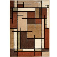 allen + roth Addington Brown Rectangular Indoor Woven Area Rug (Common: 8 x 10; Actual: 94-in W x 120-in L)