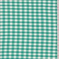 Aqua Green Check Shirting - 27330 - Fabric By The Yard At Discount Prices - $3.95