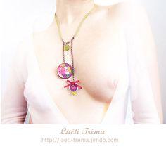 bijoux en tissu japonais romantique