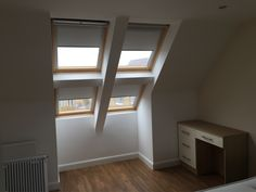 Blackout roller blinds on these 4 amazing skylight windows
