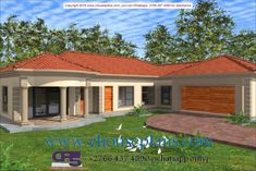 Round House Plans, My House Plans, Family House Plans, Beautiful House Plans, Beautiful Homes, Flat Roof House Designs, Single Storey House Plans, House Plans South Africa, Building Costs