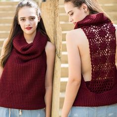 Here is the previous sweater in wine and a view of the back details! $46. Also available in cream and black. Shop social by signing up at stylerevelsocial.com!