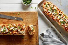 BBQ Chicken French Bread Pizzas With Smoked Mozzarella