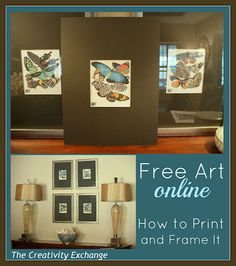 •❈• Free Art Online How to Print amd Frame Tutorial
