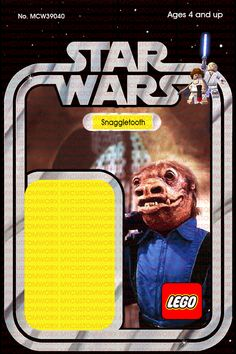 Custom Star Wars Vintage 12-Back Jawa Lego Card Back